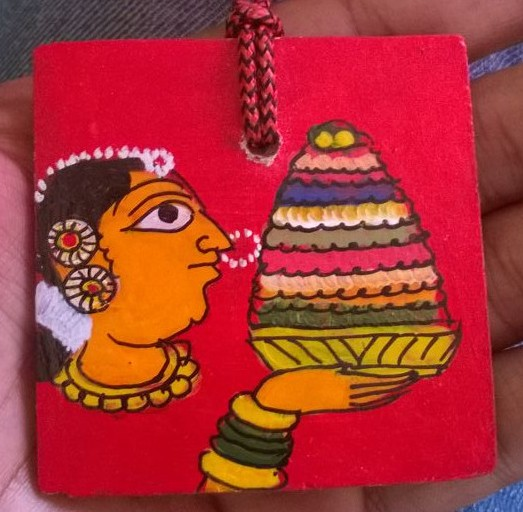 Medal with Bathukamma in Cheriyal Painting, final design will have event name as well