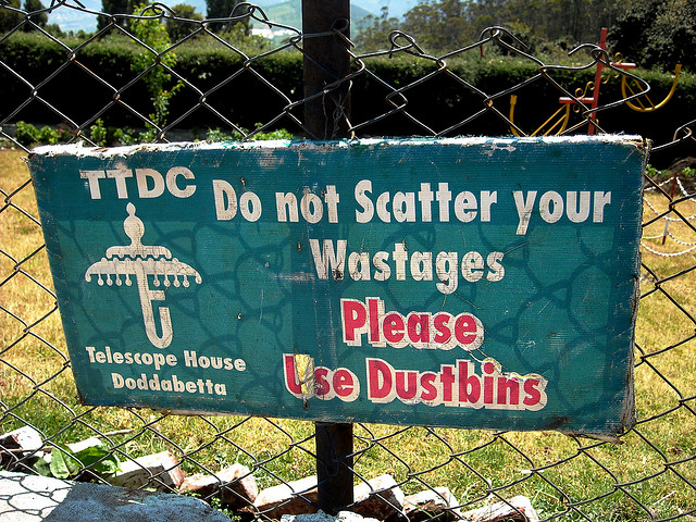yes, 'wastages' or not, please do not litter.