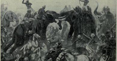 The defeat of Pulakeshin II, the Chalukhya, by Mahamalla Pallava at Badami