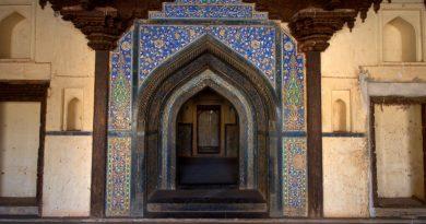 The colourful Mosaic entrance