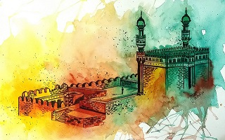 Golconda-Fort-Hyderabad-Watercolor-by-Jaee-Apte-tiny