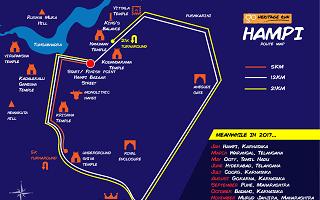Hampi Run Route