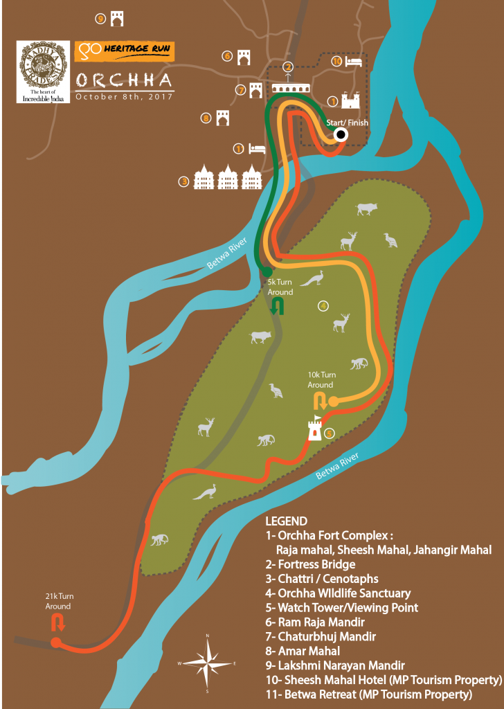 GHR Orchha Run Routes